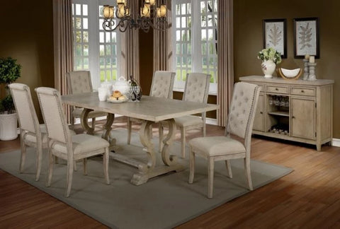 Alexis Rectangular Table w/ 6 Chairs