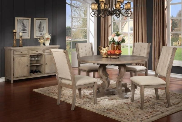 Alexis Round Table w/ 4 Chairs & FREE Server