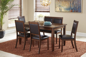 Meredy Table W/4 Chairs & Bench