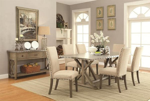 Driftwood Table w/ 4 Chairs - Katy Furniture