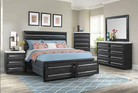 Capri Queen Storage Bedroom Set - Katy Furniture