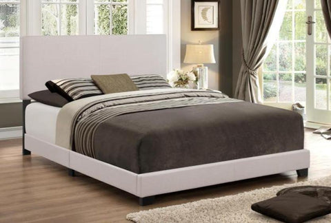 Erin Khaki Bed & Promo Mattress and Boxspring