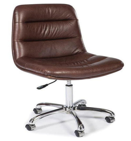 Executive French Beige Leather Chair