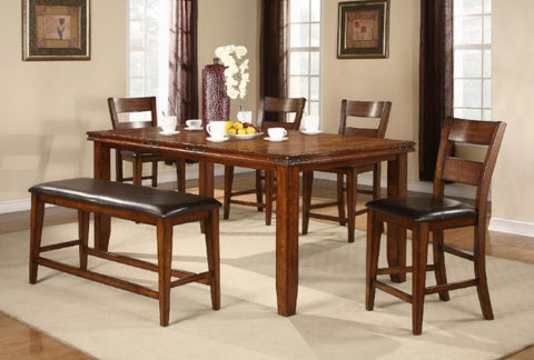 Figaro Mango Counter Height Table W/ 4 Chairs - Katy Furniture
