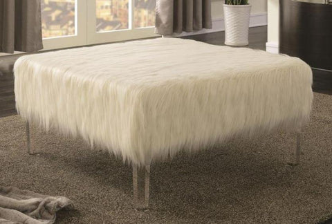 Sheep Fuzzy Ottoman - Katy Furniture