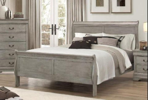 Philip Grey King Bed - Katy Furniture