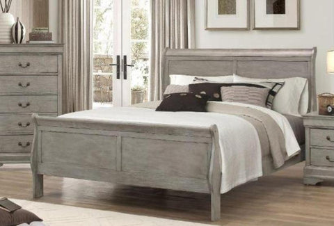 Philip Grey Queen Bed - Katy Furniture