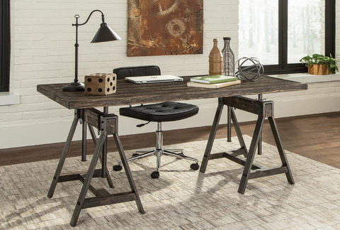 Gunmetal Writing Desk