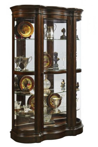 Hareley Curved Front Curio - Katy Furniture