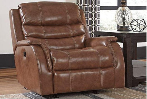 Hyatt Leather Power Recliner - Katy Furniture