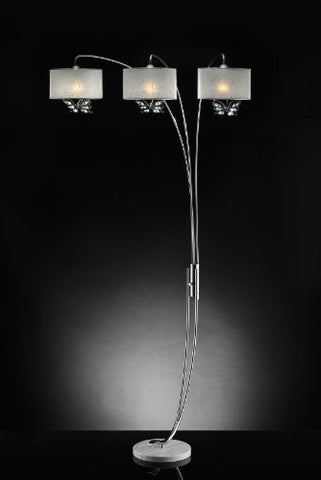 Hydra White Butterfly Arch Floor Lamp - Katy Furniture