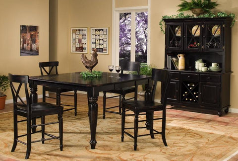Roanoke Counter Height Table W/ 4 Chairs - Katy Furniture