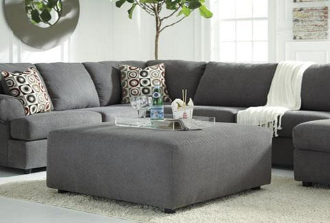 Jayceon Steel Ottoman - Katy Furniture