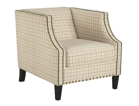 Kieran Cream Accent Chair - Katy Furniture