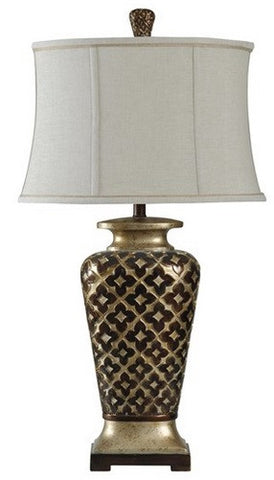 Patterned Table Lamp - Katy Furniture