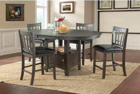Max Pub Table w/ 4 Chairs - Katy Furniture