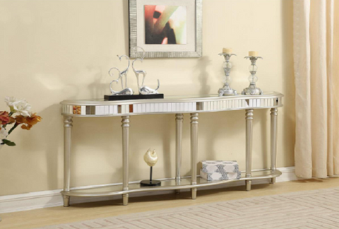Razzle Dazzle Mirrored Console Table