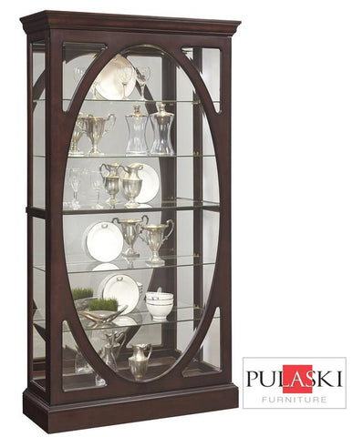 Brown Curio Cabinet - Katy Furniture