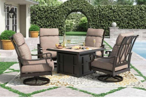 Russet Swivel Lounge with Cushion - Katy Furniture