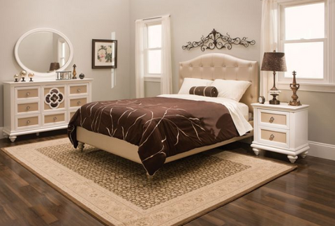 Paris Twin Upholstered 6pc Bedroom Set