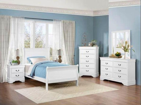 Bon Phillip White Twin Bedroom Set