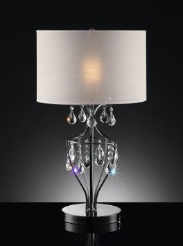 Refined Crystal Table Lamp - Katy Furniture