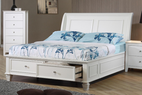 Sandy Beach Twin Storage Bed