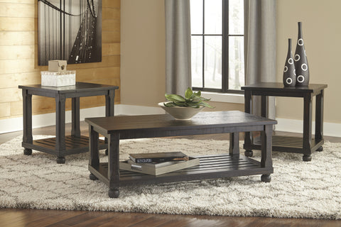 Mallacar Coffee Table w/ 2 End Tables - Katy Furniture