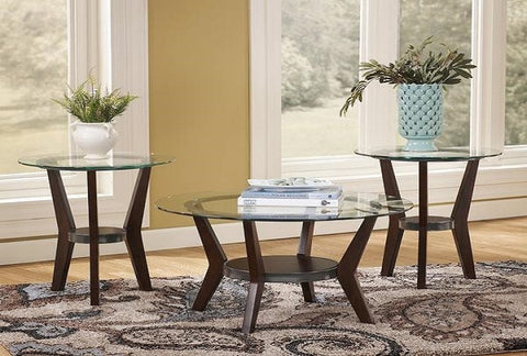 Fantell Coffee Table w/ 2 End Tables - Katy Furniture