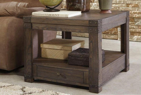 Burladen Rectangular End Table - Katy Furniture