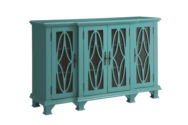 Teal Blue Accent Cabinet Katy Furniture