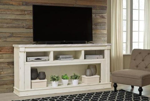 "Becklyn 74"" TV Stand - Katy Furniture"