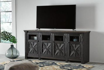 "Tyler Creek 74"" TV Stand - Katy Furniture"
