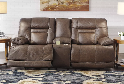 Walworth Leather Power Loveseat