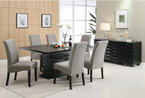 Wave Regular Height Table w/ 4 Chairs - Katy Furniture