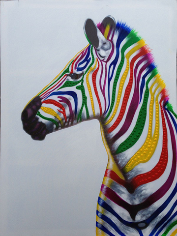 Zebra In Colors