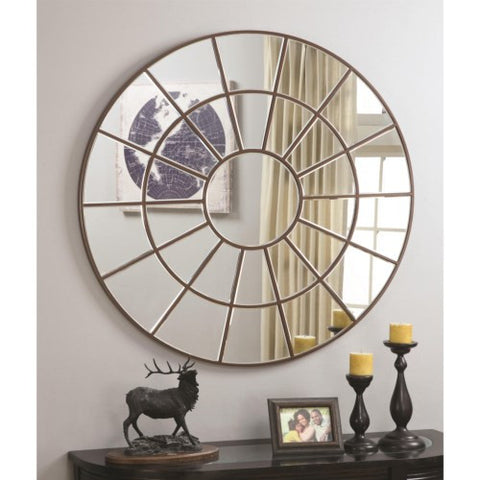 Palladian inspired circular mirror - Katy Furniture