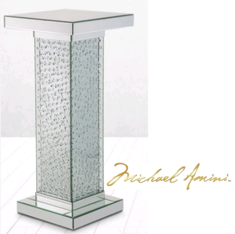 Montreal Mirrored Accent Table - Katy Furniture