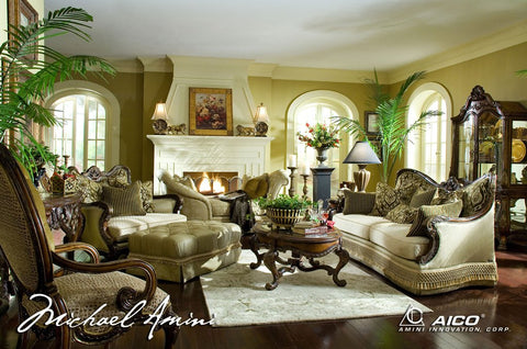 Chateau Beauvais Wood Trim Sofa