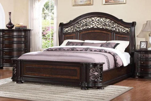 Allison King Bed - Katy Furniture