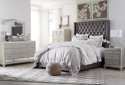 Coralayne Upholstered King Bedroom set - Katy Furniture