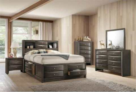 Briana Grey Queen Storage Bedroom