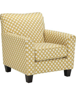Brindon Yellow Accent Chair Katy Furniture