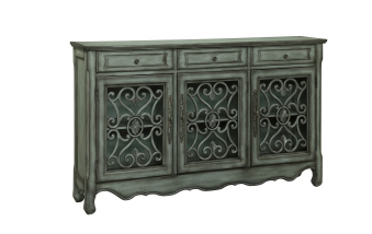 Hood Grey And Pewter Metal Credenza - Katy Furniture