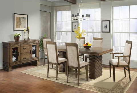 Chaplin Table w/ 6 Chairs - Katy Furniture