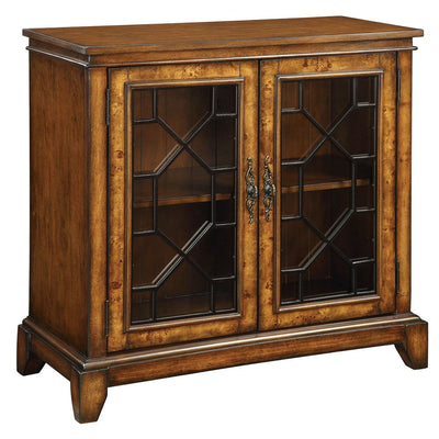 Cresthill Brown 2 Drawer Credenza Cabinet - Katy Furniture
