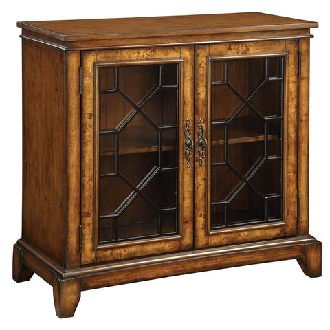Cresthill Brown 2 Drawer Credenza Cabinet