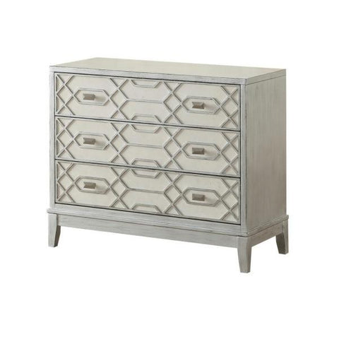 Comstock Silver and Ivory 3-Drawer Chest