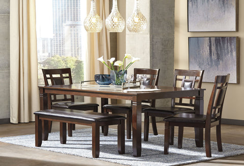 Bennox Table W/ 4 Chairs and Bench