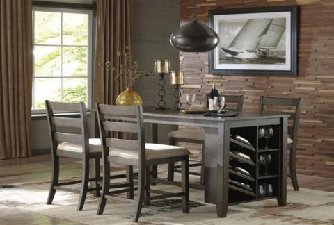 Sawyer Counter Height Table w/ 4 Chairs